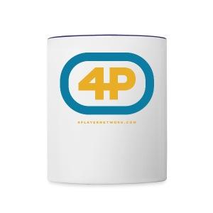 4Player Retro Logo (Color) - Women's T Shirt - Contrast Coffee Mug