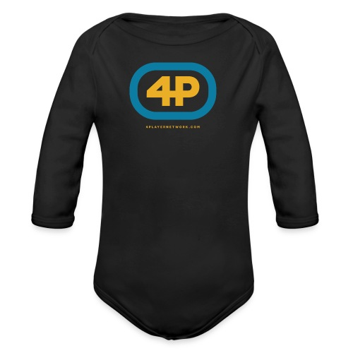 4Player Retro Logo (Color) - Women's T Shirt - Organic Long Sleeve Baby Bodysuit