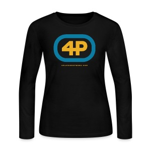 4Player Retro Logo (Color) - Women's T Shirt - Women's Long Sleeve Jersey T-Shirt