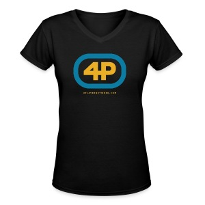 4Player Retro Logo (Color) - Women's T Shirt - Women's V-Neck T-Shirt