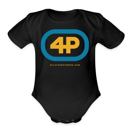 4Player Retro Logo (Color) - Women's T Shirt - Organic Short Sleeve Baby Bodysuit