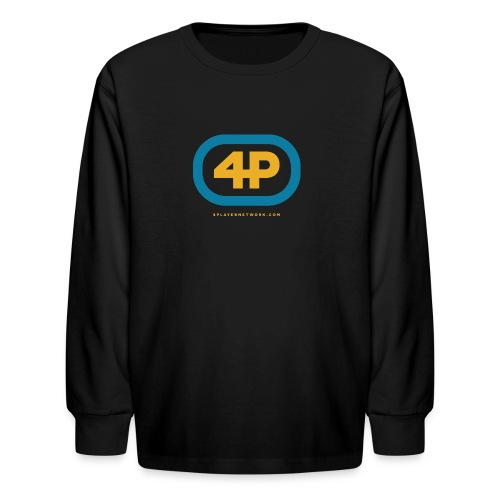 4Player Retro Logo (Color) - Women's T Shirt - Kids' Long Sleeve T-Shirt