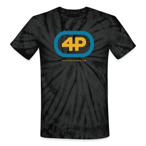 4Player Retro Logo (Color) - Women's T Shirt - Unisex Tie Dye T-Shirt