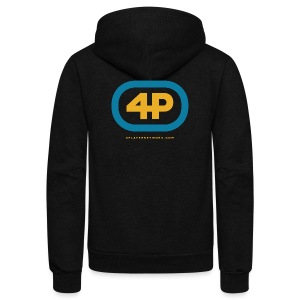 4Player Retro Logo (Color) - Women's T Shirt - Unisex Fleece Zip Hoodie by American Apparel