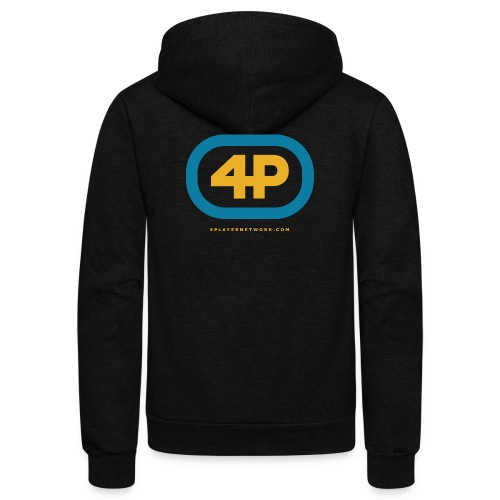 4Player Retro Logo (Color) - Women's T Shirt - Unisex Fleece Zip Hoodie