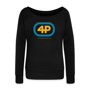 4Player Retro Logo (Color) - Women's T Shirt - Women's Wideneck Sweatshirt