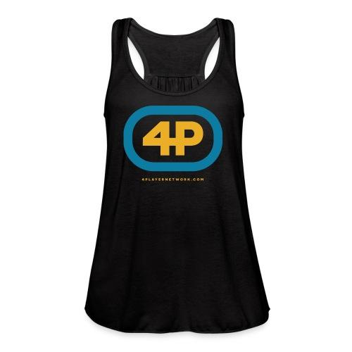 4Player Retro Logo (Color) - Women's T Shirt - Women's Flowy Tank Top by Bella