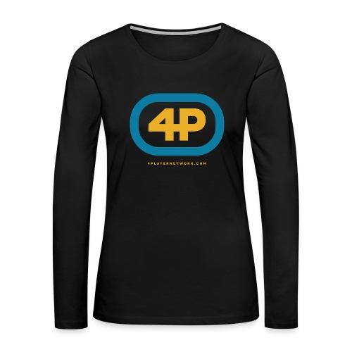 4Player Retro Logo (Color) - Women's T Shirt - Women's Premium Long Sleeve T-Shirt