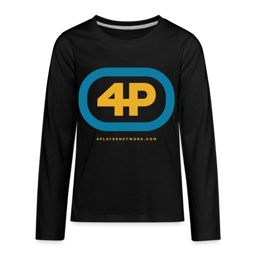 4Player Retro Logo (Color) - Women's T Shirt - Kids' Premium Long Sleeve T-Shirt