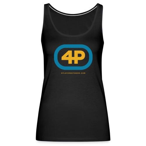 4Player Retro Logo (Color) - Women's T Shirt - Women's Premium Tank Top