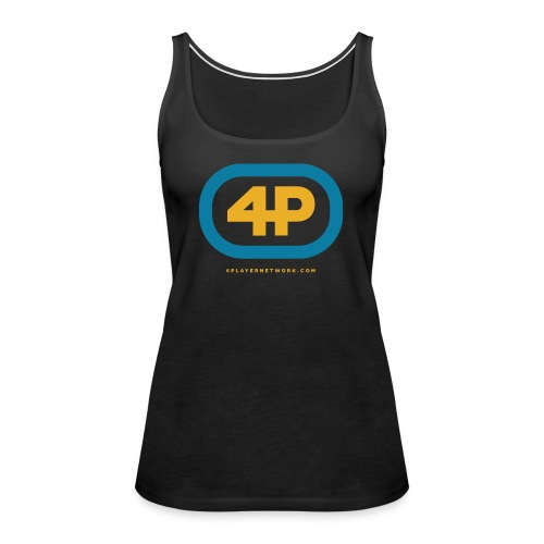 4Player Retro Logo (Color) - Women's T Shirt - Women's Premium Tank Top