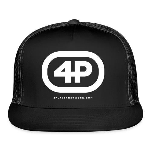 4Player Retro Logo (Solid White) - Women's T Shirt - Trucker Cap
