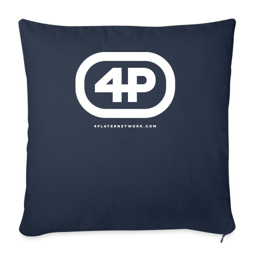 4Player Retro Logo (Solid White) - Women's T Shirt - Throw Pillow Cover