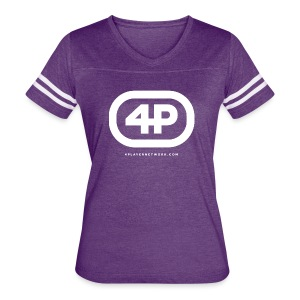 4Player Retro Logo (Solid White) - Women's T Shirt - Women's Vintage Sport T-Shirt