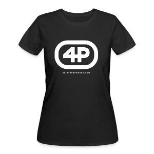 4Player Retro Logo (Solid White) - Women's T Shirt - Women's 50/50 T-Shirt