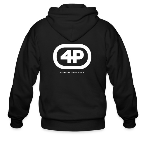 4Player Retro Logo (Solid White) - Women's T Shirt - Men's Zip Hoodie