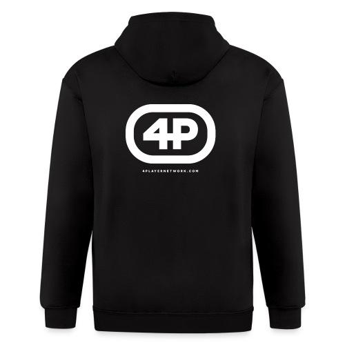 4Player Retro Logo (Solid White) - Women's T Shirt - Men's Zip Hoodie