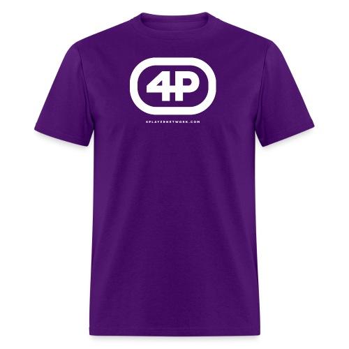 4Player Retro Logo (Solid White) - Women's T Shirt - Men's T-Shirt
