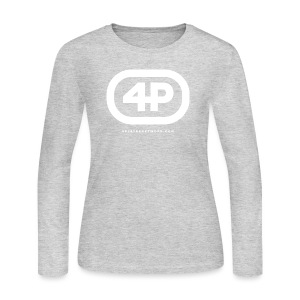 4Player Retro Logo (Solid White) - Women's T Shirt - Women's Long Sleeve Jersey T-Shirt