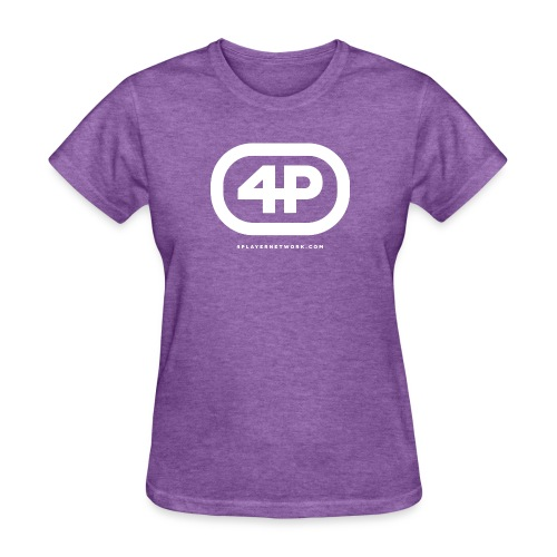 4Player Retro Logo (Solid White) - Women's T Shirt - Women's T-Shirt