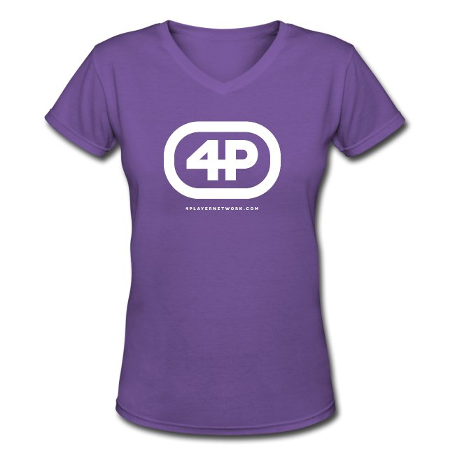 4Player Retro Logo (Solid White) - Women's T Shirt