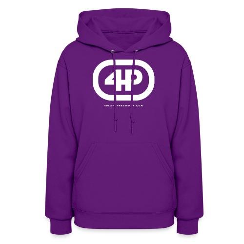 4Player Retro Logo (Solid White) - Women's T Shirt - Women's Hoodie