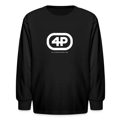 4Player Retro Logo (Solid White) - Women's T Shirt - Kids' Long Sleeve T-Shirt