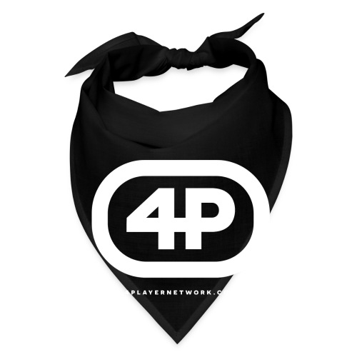 4Player Retro Logo (Solid White) - Women's T Shirt - Bandana