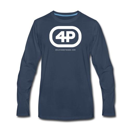 4Player Retro Logo (Solid White) - Women's T Shirt - Men's Premium Long Sleeve T-Shirt