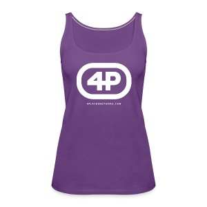 4Player Retro Logo (Solid White) - Women's T Shirt - Women's Premium Tank Top