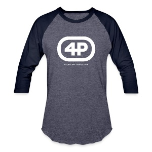 4Player Retro Logo (Solid White) - Women's T Shirt - Baseball T-Shirt