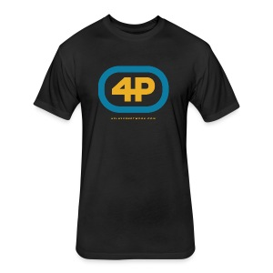 4Player Retro Logo (Color) - Men's T Shirt - Fitted Cotton/Poly T-Shirt by Next Level