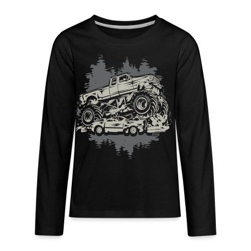 Monster Truck Grungy - Kids' Premium Long Sleeve T-Shirt