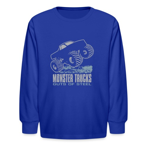 Monster Truck Steel Guts - Kids' Long Sleeve T-Shirt