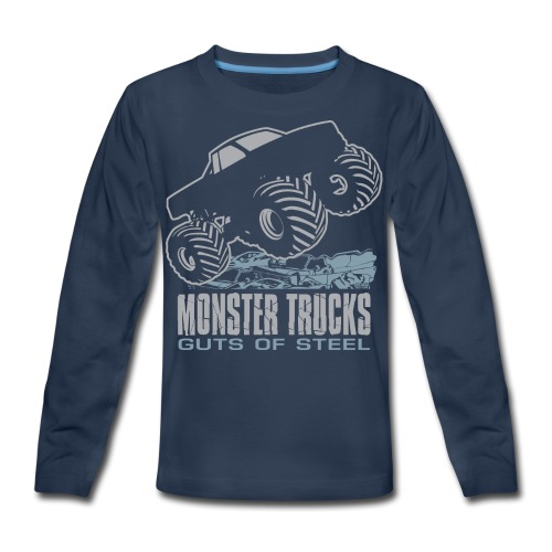 Monster Truck Steel Guts - Kids' Premium Long Sleeve T-Shirt