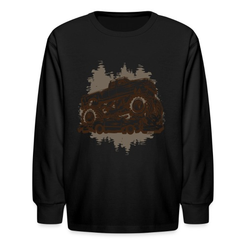 Monster Truck Grungy - Kids' Long Sleeve T-Shirt