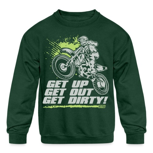 Motocross Dirty - Kids' Crewneck Sweatshirt
