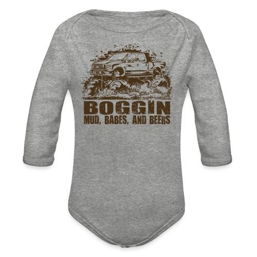 Mud Truck Boggin Beers - Organic Long Sleeve Baby Bodysuit