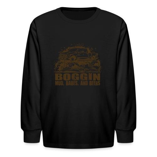 Mud Truck Boggin Beers - Kids' Long Sleeve T-Shirt