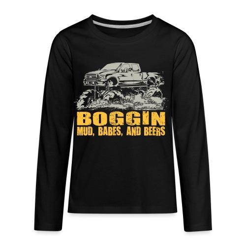 Mud Truck Boggin Beers - Kids' Premium Long Sleeve T-Shirt