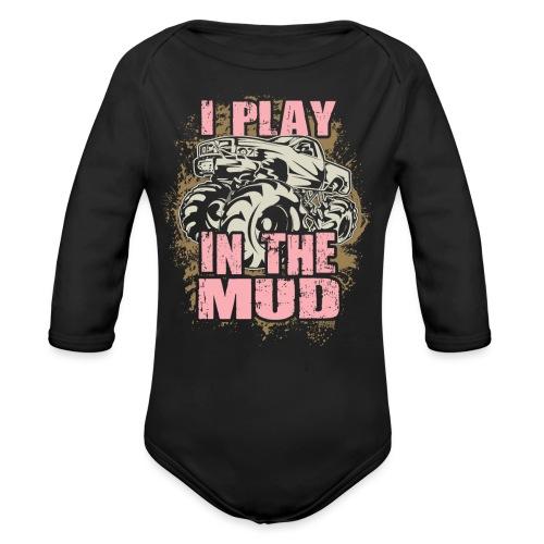 Mud Truck Play - Organic Long Sleeve Baby Bodysuit