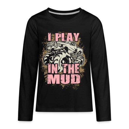 Mud Truck Play - Kids' Premium Long Sleeve T-Shirt