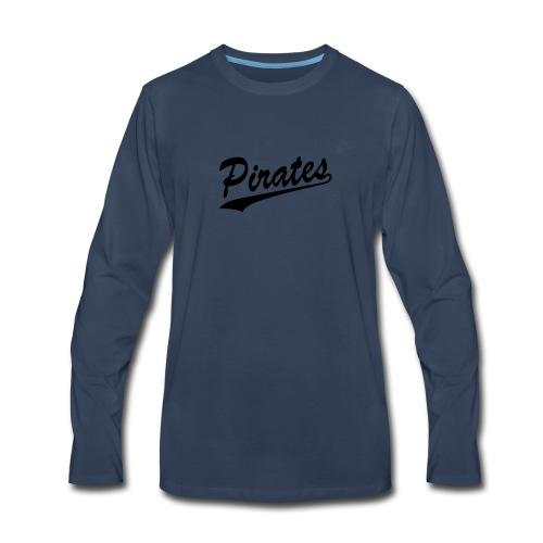 Pirates Cursive Smooth Print - Men's Premium Long Sleeve T-Shirt