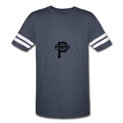 Pirate P Logo Screenprint - Vintage Sport T-Shirt
