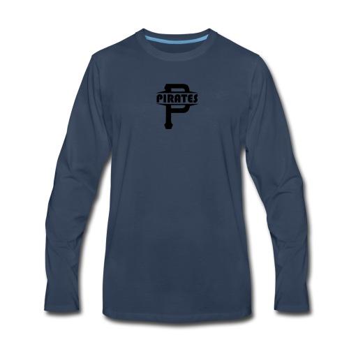 Pirate P Logo Screenprint - Men's Premium Long Sleeve T-Shirt
