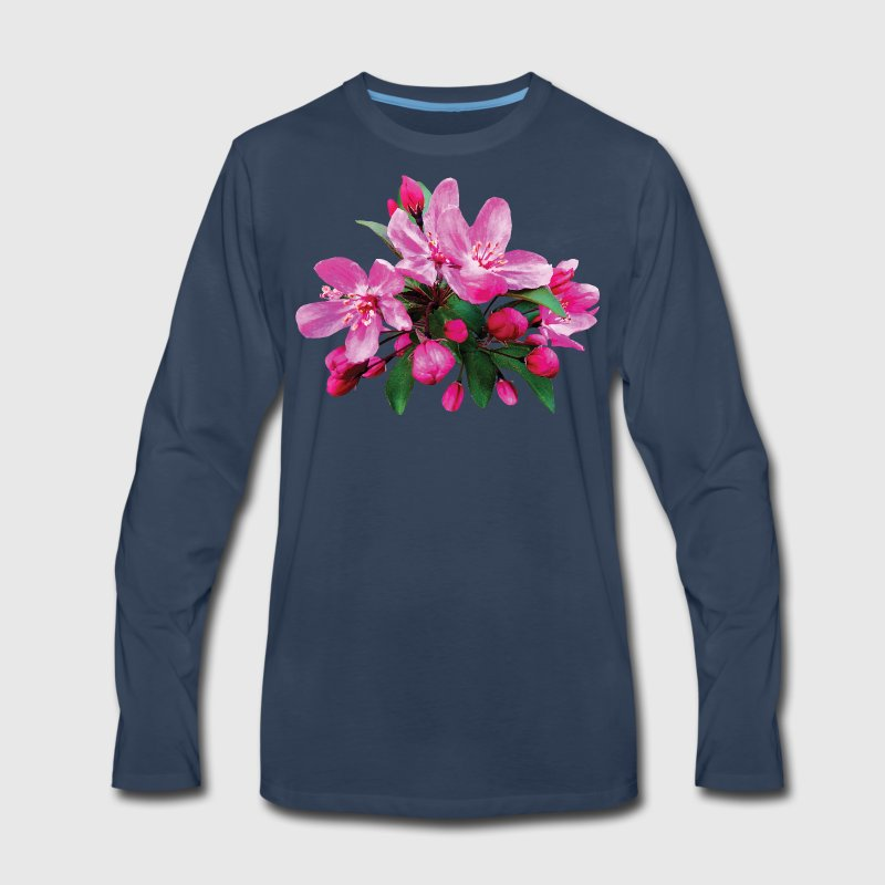 Two Cherry Blossoms And Buds Long Sleeve Shirts - Men's Premium Long Sleeve T-Shirt