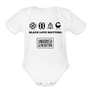 BLM LADIES WHT - Short Sleeve Baby Bodysuit