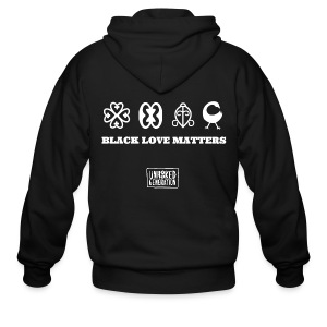BLM LADIES BLK - Men's Zip Hoodie