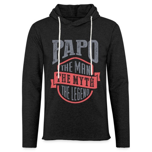 Papo The Man The Myth | T-shirt Gift! - Unisex Lightweight Terry Hoodie