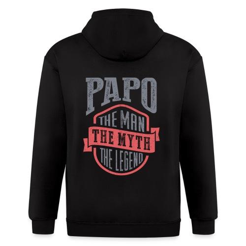 Papo The Man The Myth   T-shirt Gift! - Men's Zip Hoodie